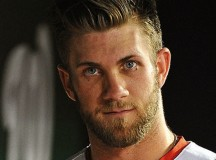 Nationals Bench Bryce Harper
