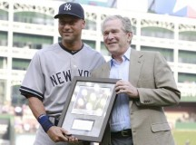 Former President Joins the Derek Jeter Farewell Tour